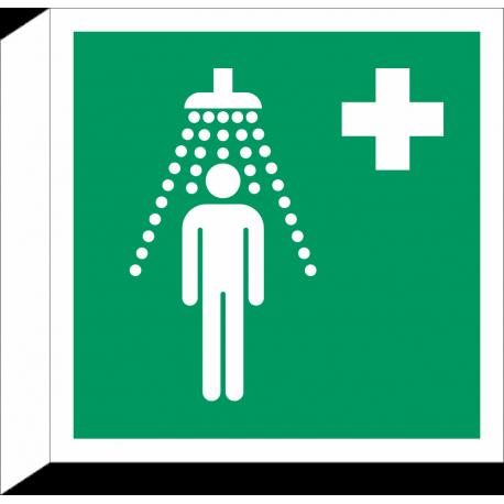 Veiligheidsdouche bordjes (haaks model)
