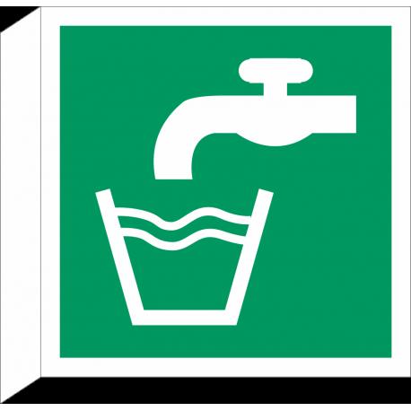 Drinkwater bordjes (haaks model)