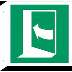 Duw aan linkerkant om deur te openen bordjes (haaks model)
