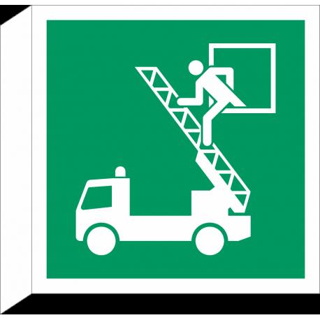 Evacuatievenster bordjes (haaks model)