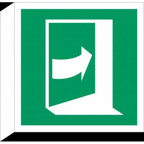 Duw aan rechterkant om deur te openen bordjes (haaks model)