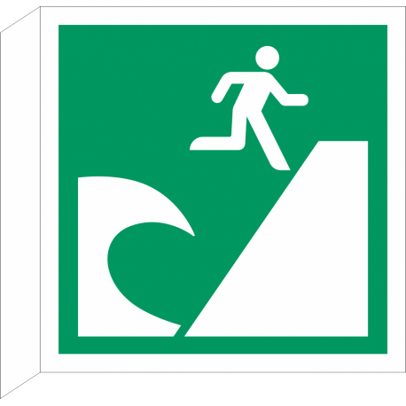 Tsunami evacuatiegebied bordjes (haaks model)