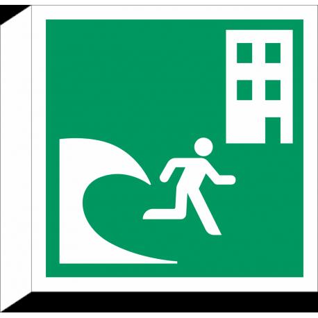Tsunami evacuatiegebouw bordjes (haaks model)