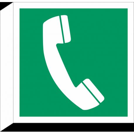 Noodtelefoon bordjes (haaks model)