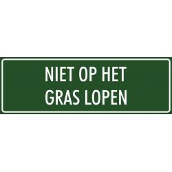 'Niet op het gras lopen' bordjes (groen)