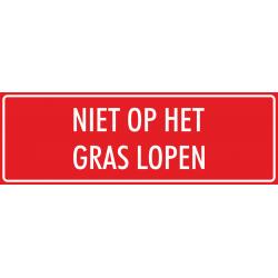 'Niet op het gras lopen' bordjes (rood)