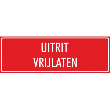 'Uitrit vrijlaten' bordjes (rood)