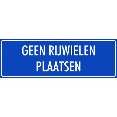 'Geen rijwielen plaatsen' bordjes (blauw)