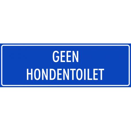 'Geen hondentoilet' bordjes (blauw)