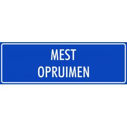 'Mest opruimen' bordjes (blauw)