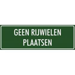 'Geen rijwielen plaatsen' bordjes (groen)