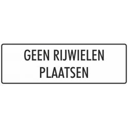 'Geen rijwielen plaatsen' bordjes (wit)