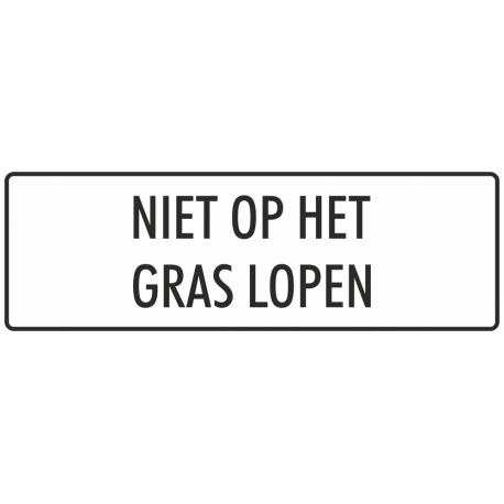 'Niet op het gras lopen' bordjes (wit)