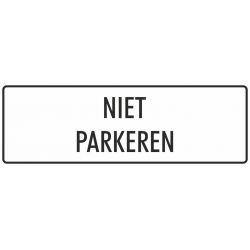 'Niet parkeren' bordjes (wit)