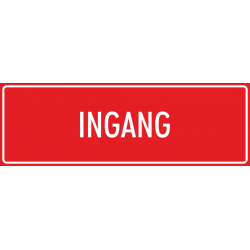 'Ingang' bordjes (rood)
