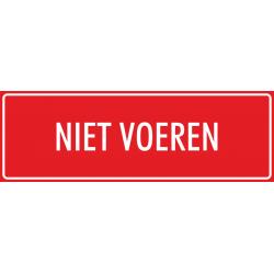 'Niet voeren' bordjes (rood)
