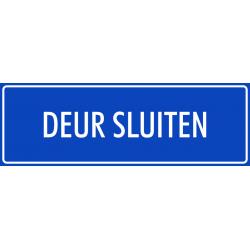 'Deur sluiten' bordjes (blauw)
