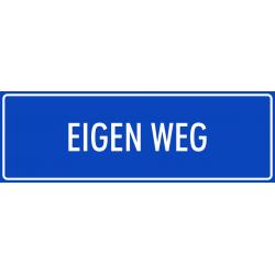 'Eigen weg' bordjes (blauw)