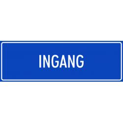 'Ingang' bordjes (blauw)
