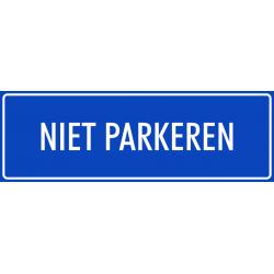 'Niet parkeren' bordjes (blauw)