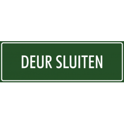 'Deur sluiten' bordjes (groen)