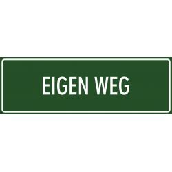 'Eigen weg' bordjes (groen)