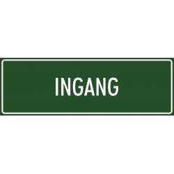 'Ingang' bordjes (groen)