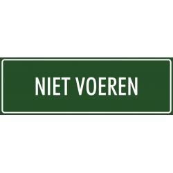 'Niet voeren' bordjes (groen)