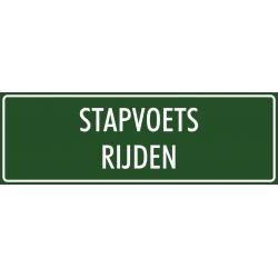 'Stapvoets rijden' bordjes (groen)