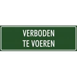 'Verboden te voeren' bordjes (groen)