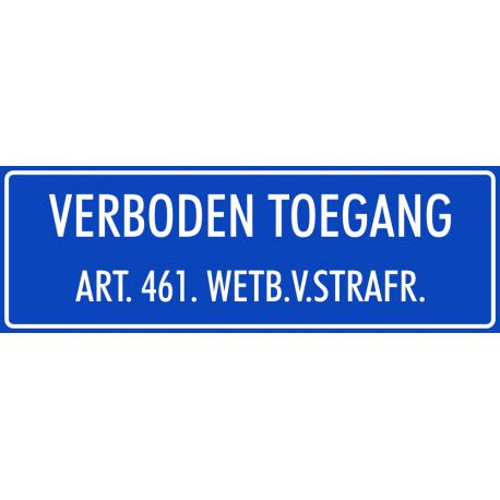 'Verboden toegang' bordjes (blauw)