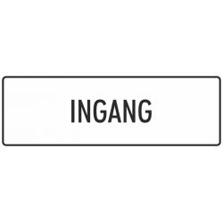 'Ingang' bordjes (wit)