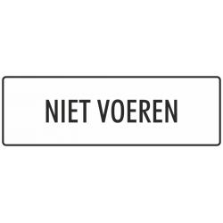 'Niet voeren' bordjes (wit)