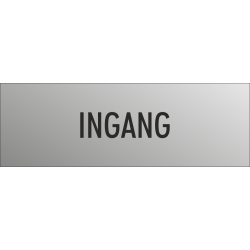 'Ingang' bordjes (RVS look)