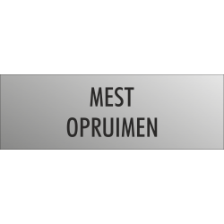 'Mest opruimen' bordjes (RVS look)