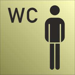 Heren wc bordjes (Gold look)