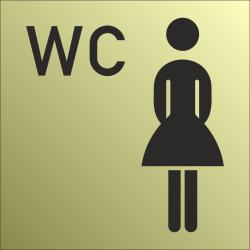 Dames wc bordjes (Gold look)