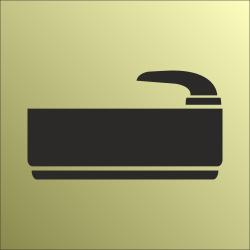 Badruimte bordjes (Gold look)