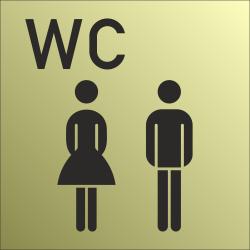 Gezamenlijke wc bordjes (Gold look)