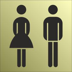 Gezamenlijk toiletbordjes (Gold look)