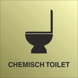Chemisch toilet bordjes (Gold look)