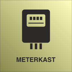 Meterkast bordjes (Gold look)