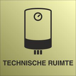 Technische ruimte bordjes (Gold look)