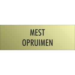 'Mest opruimen' bordjes (Gold look)