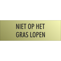'Niet op het gras lopen' bordjes (Gold look)