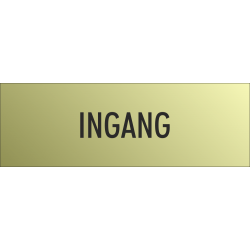 'Ingang' bordjes (Gold look)