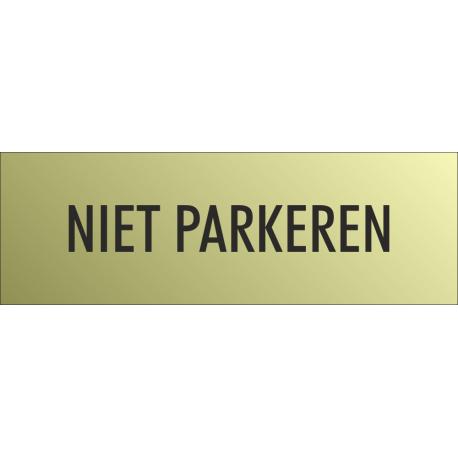 'Niet parkeren' bordjes (Gold look)