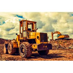 Bulldozer - Foto op plexiglas