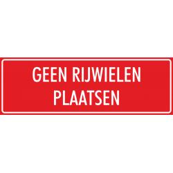 'Geen rijwielen plaatsen' stickers (rood)
