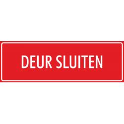 'Deur sluiten' stickers (rood)